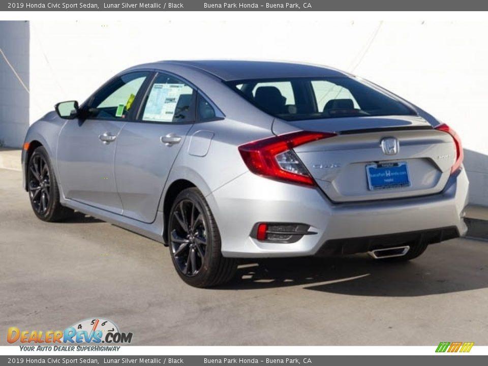 2019 Honda Civic Sport Sedan Lunar Silver Metallic / Black Photo #2