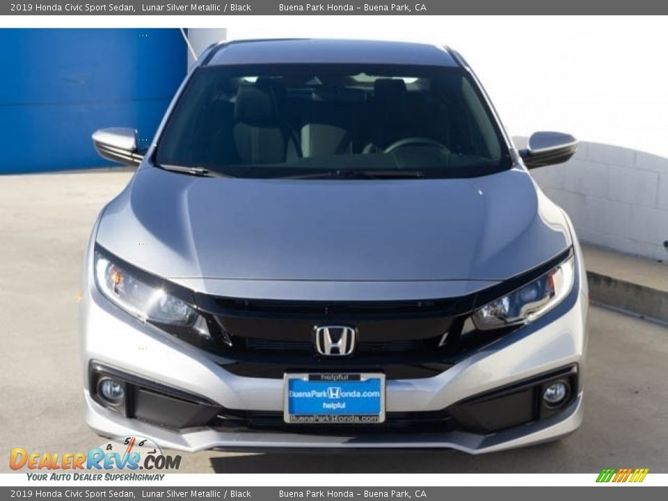 2019 Honda Civic Sport Sedan Lunar Silver Metallic / Black Photo #3