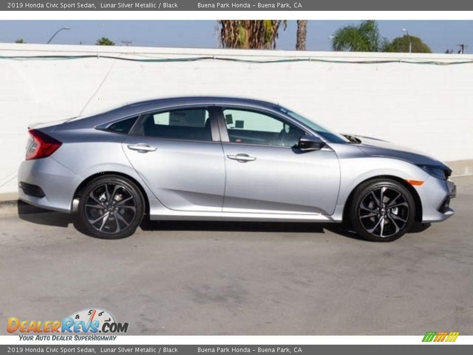 2019 Honda Civic Sport Sedan Lunar Silver Metallic / Black Photo #5