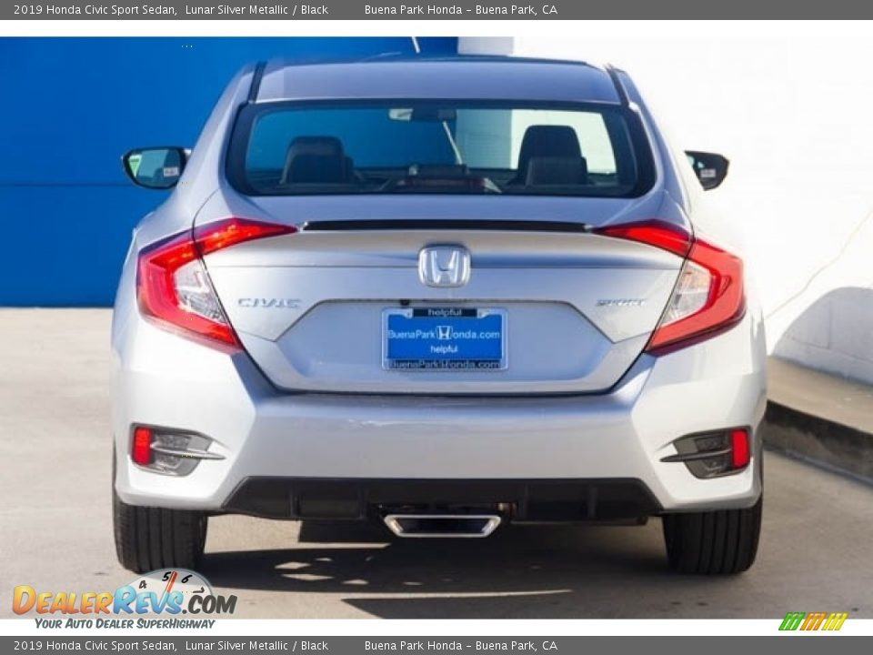 2019 Honda Civic Sport Sedan Lunar Silver Metallic / Black Photo #6