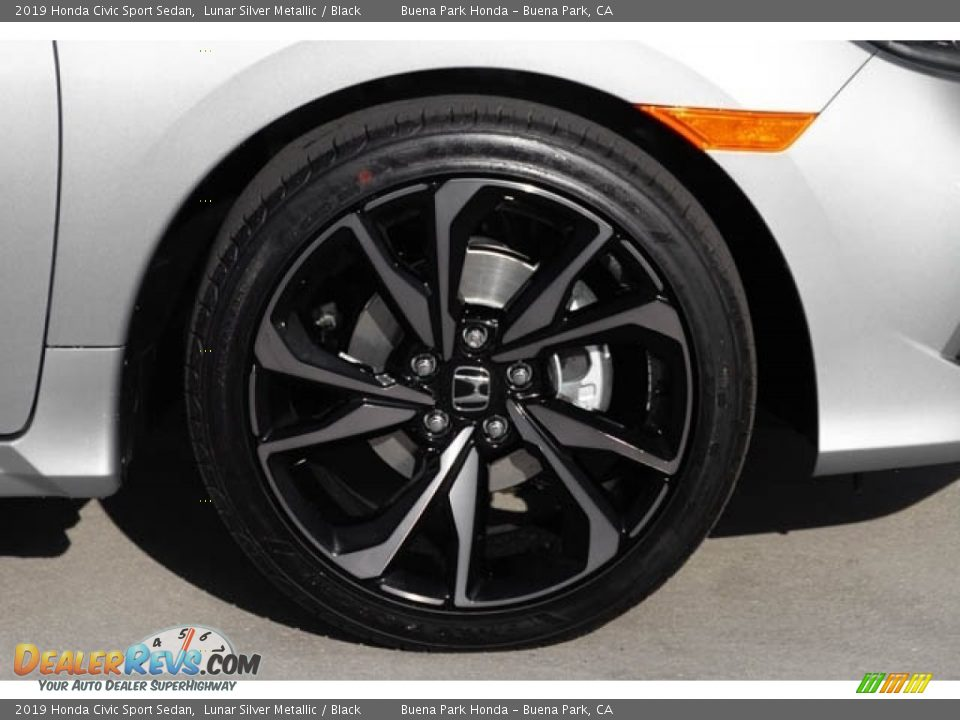 2019 Honda Civic Sport Sedan Lunar Silver Metallic / Black Photo #12