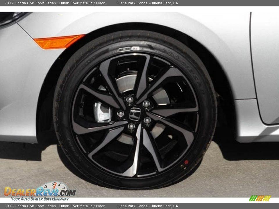 2019 Honda Civic Sport Sedan Lunar Silver Metallic / Black Photo #14