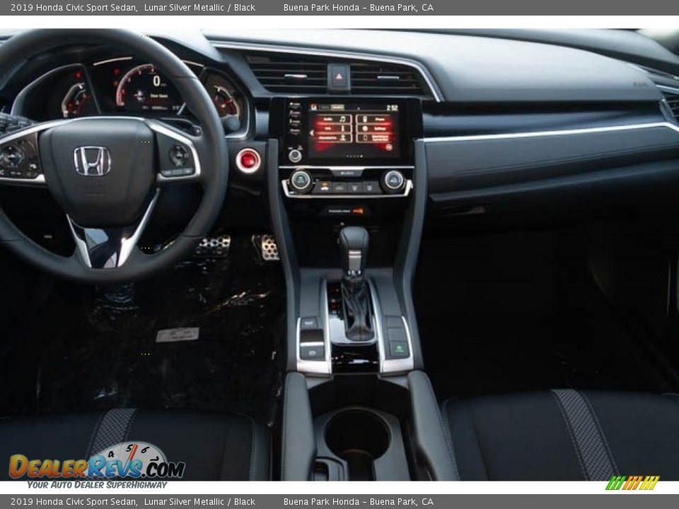 2019 Honda Civic Sport Sedan Lunar Silver Metallic / Black Photo #18
