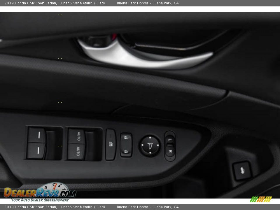 2019 Honda Civic Sport Sedan Lunar Silver Metallic / Black Photo #34