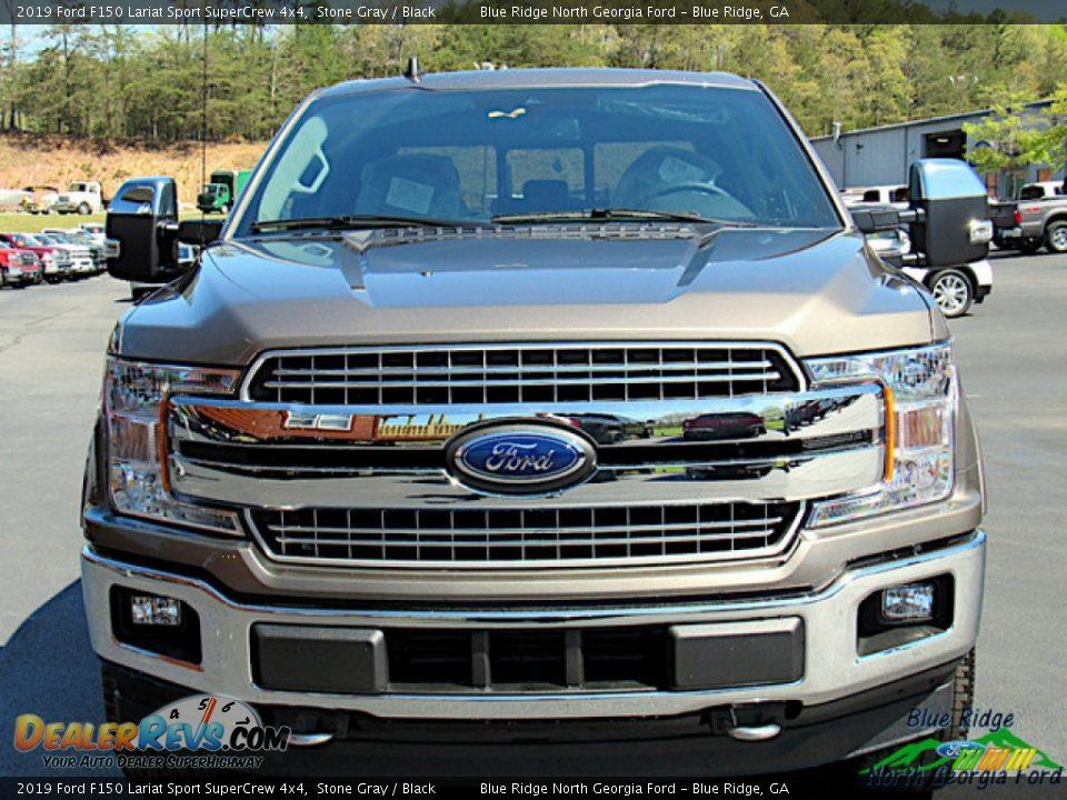 2019 Ford F150 Lariat Sport SuperCrew 4x4 Stone Gray / Black Photo #8