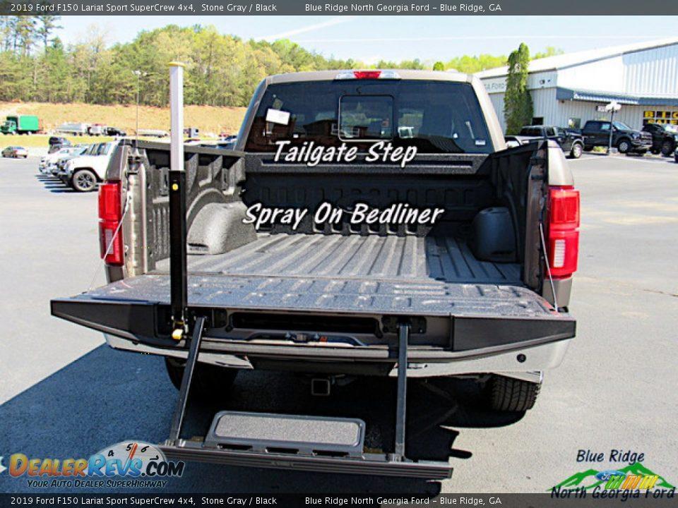 2019 Ford F150 Lariat Sport SuperCrew 4x4 Stone Gray / Black Photo #13