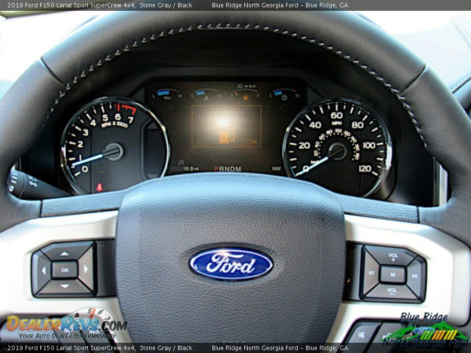2019 Ford F150 Lariat Sport SuperCrew 4x4 Stone Gray / Black Photo #17