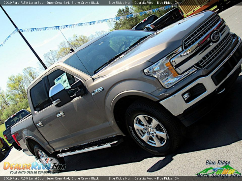 2019 Ford F150 Lariat Sport SuperCrew 4x4 Stone Gray / Black Photo #34