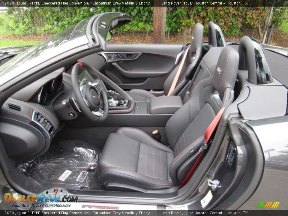 Ebony Interior - 2020 Jaguar F-TYPE Checkered Flag Convertible Photo #3