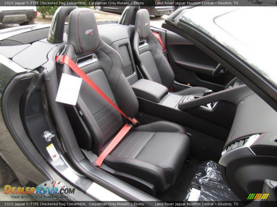 Front Seat of 2020 Jaguar F-TYPE Checkered Flag Convertible Photo #5