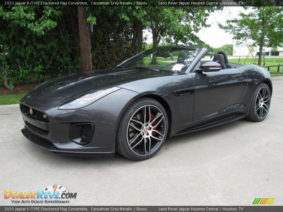 Front 3/4 View of 2020 Jaguar F-TYPE Checkered Flag Convertible Photo #10