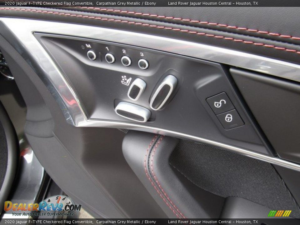 Controls of 2020 Jaguar F-TYPE Checkered Flag Convertible Photo #17
