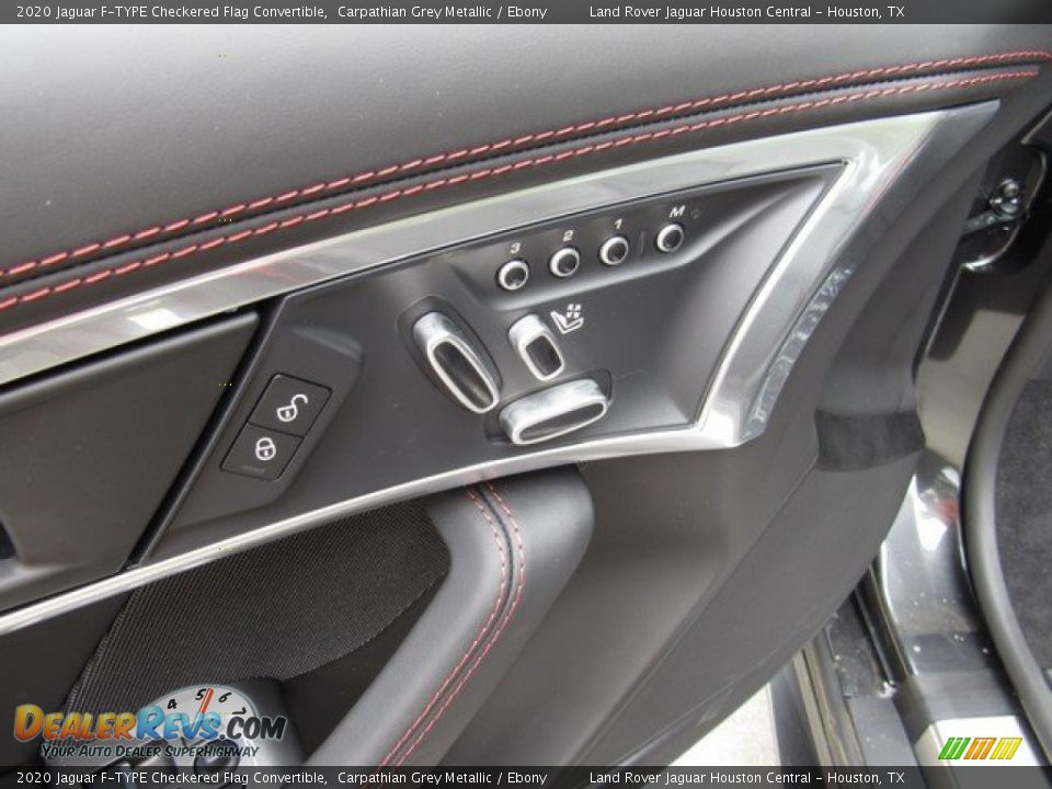 Controls of 2020 Jaguar F-TYPE Checkered Flag Convertible Photo #21