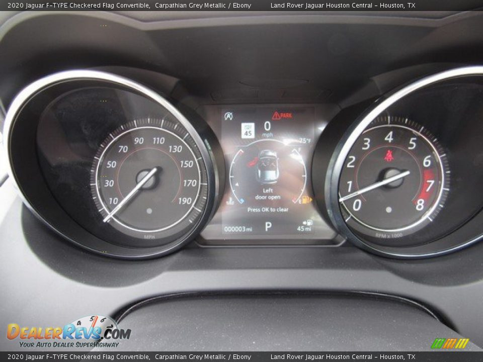2020 Jaguar F-TYPE Checkered Flag Convertible Gauges Photo #25