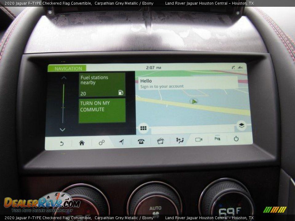 Navigation of 2020 Jaguar F-TYPE Checkered Flag Convertible Photo #29