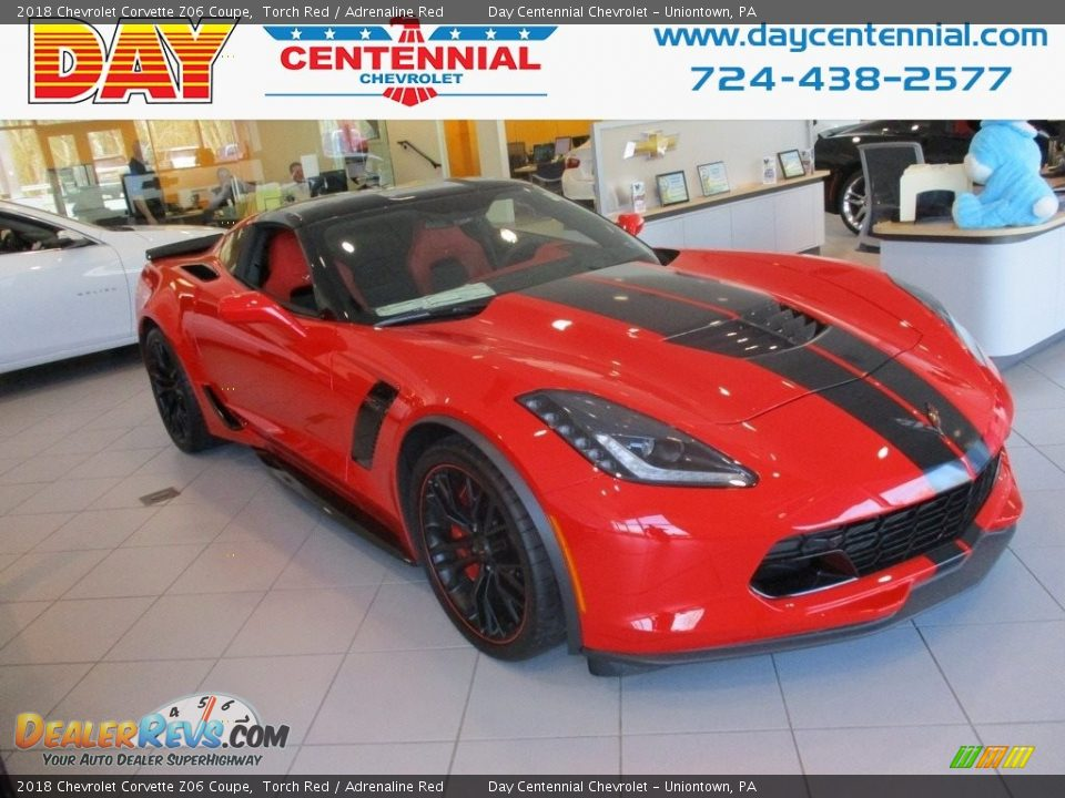 2018 Chevrolet Corvette Z06 Coupe Torch Red / Adrenaline Red Photo #1