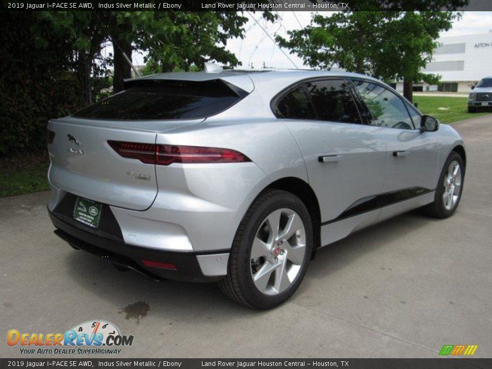 2019 Jaguar I-PACE SE AWD Indus Silver Metallic / Ebony Photo #7