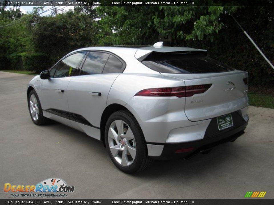 2019 Jaguar I-PACE SE AWD Indus Silver Metallic / Ebony Photo #12