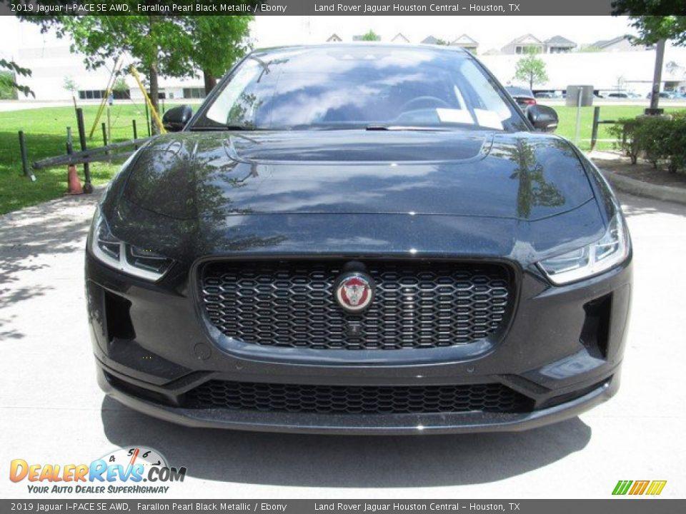 2019 Jaguar I-PACE SE AWD Farallon Pearl Black Metallic / Ebony Photo #9