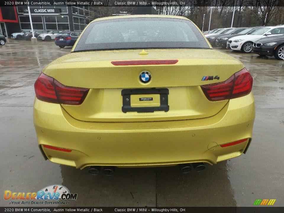 2020 BMW M4 Convertible Austin Yellow Metallic / Black Photo #6