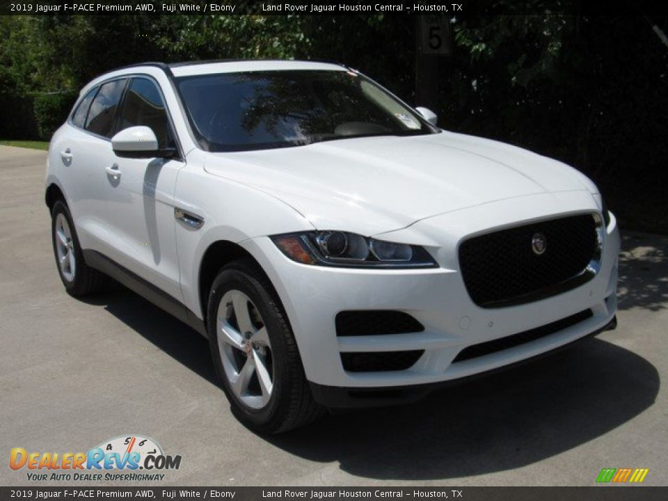 2019 Jaguar F-PACE Premium AWD Fuji White / Ebony Photo #2