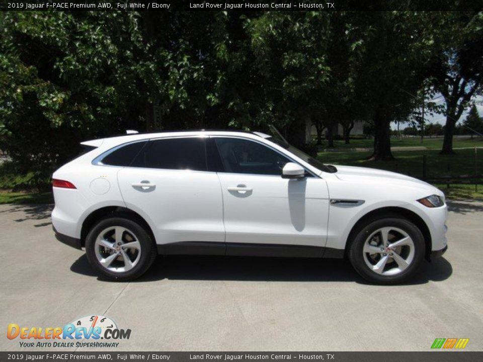 2019 Jaguar F-PACE Premium AWD Fuji White / Ebony Photo #6