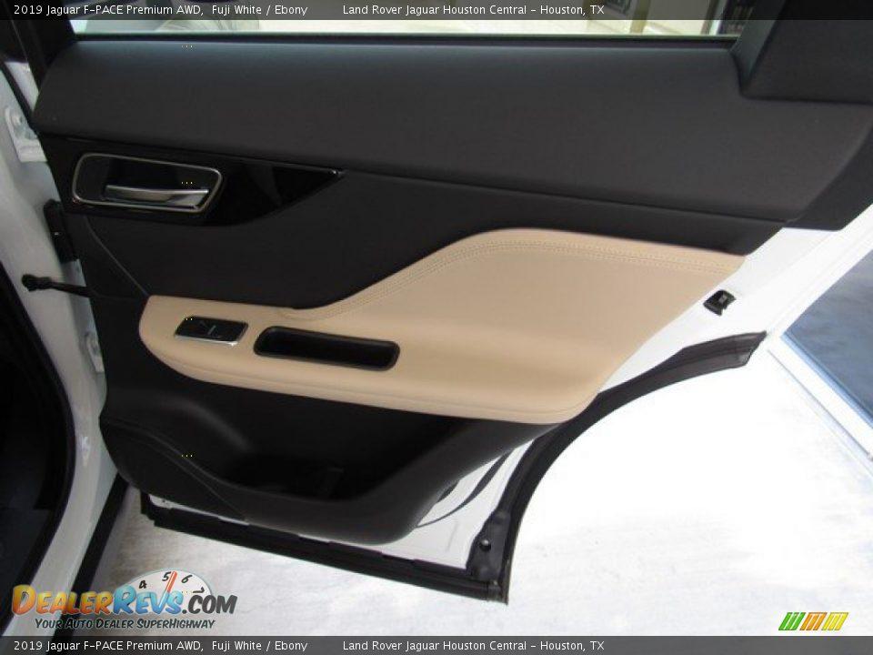 2019 Jaguar F-PACE Premium AWD Fuji White / Ebony Photo #21