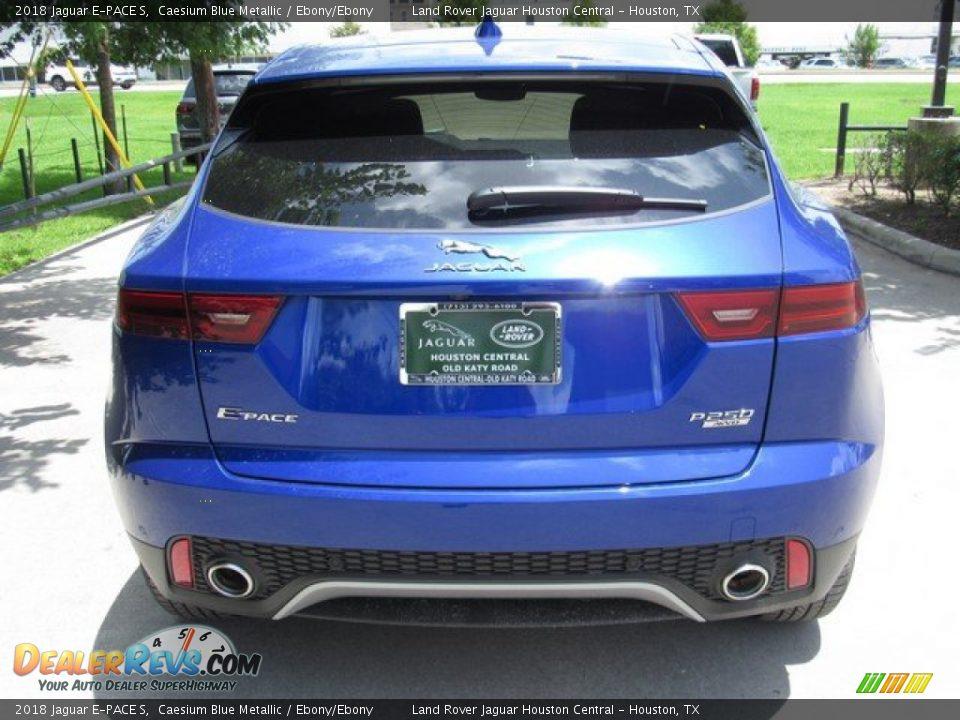 2018 Jaguar E-PACE S Caesium Blue Metallic / Ebony/Ebony Photo #8