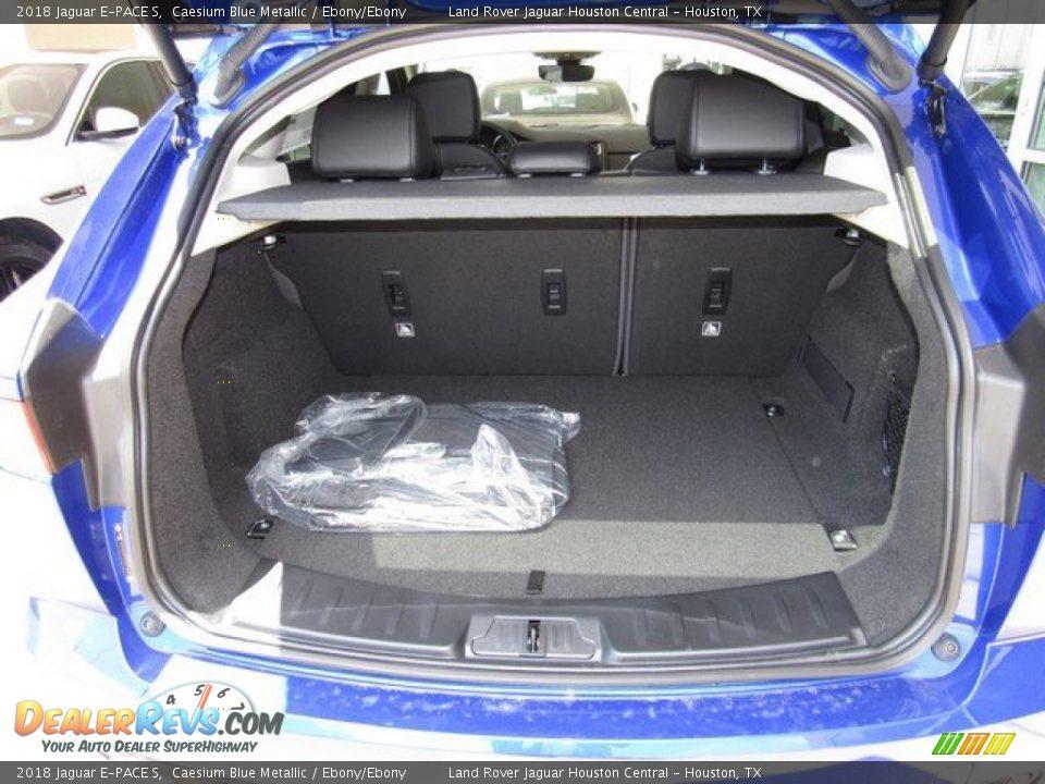 2018 Jaguar E-PACE S Caesium Blue Metallic / Ebony/Ebony Photo #17