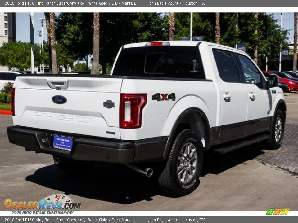 2018 Ford F150 King Ranch SuperCrew 4x4 White Gold / Dark Marsala Photo #7