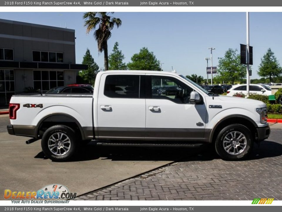2018 Ford F150 King Ranch SuperCrew 4x4 White Gold / Dark Marsala Photo #8