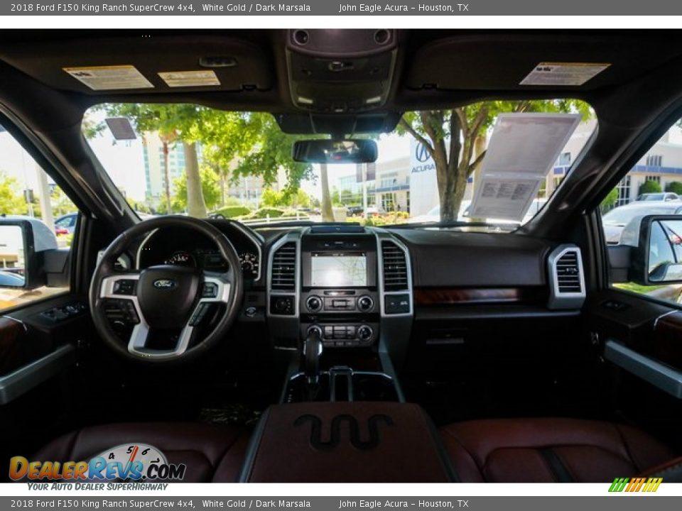 2018 Ford F150 King Ranch SuperCrew 4x4 White Gold / Dark Marsala Photo #9