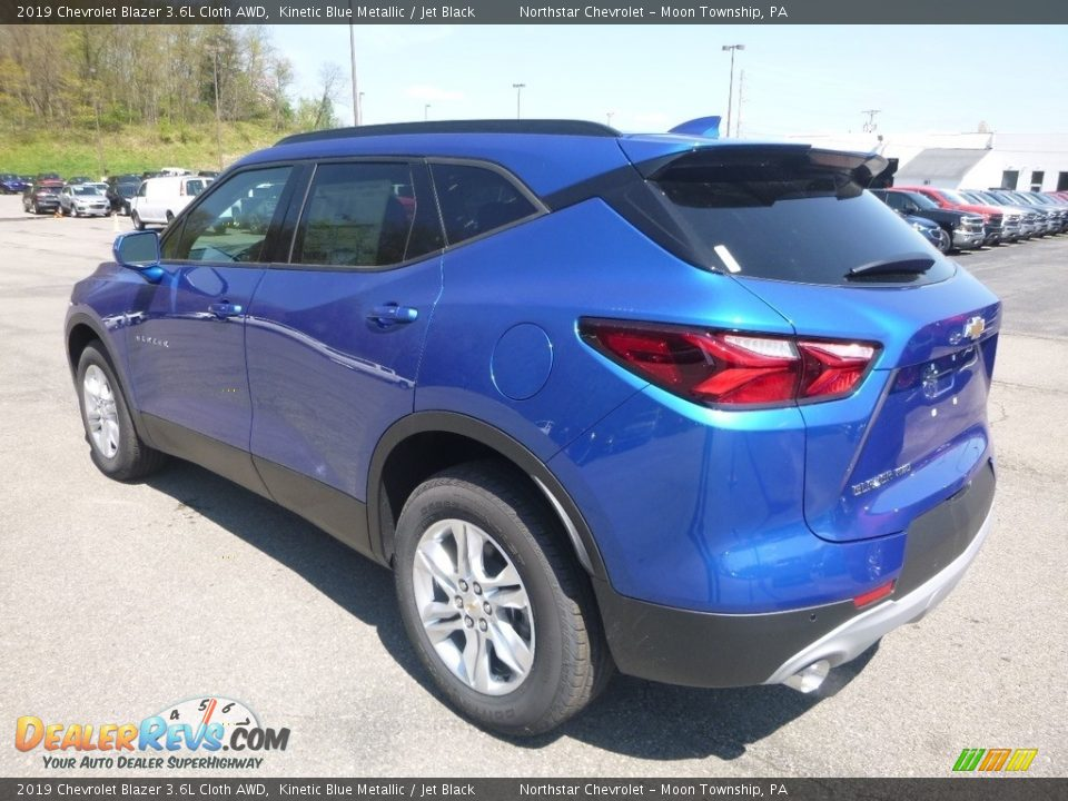 2019 Chevrolet Blazer 3.6L Cloth AWD Kinetic Blue Metallic / Jet Black Photo #3
