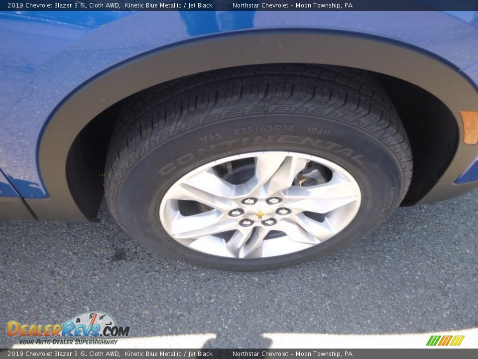2019 Chevrolet Blazer 3.6L Cloth AWD Kinetic Blue Metallic / Jet Black Photo #9