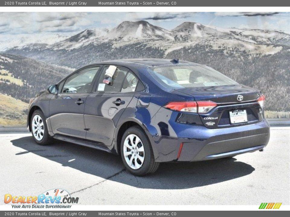 2020 Toyota Corolla LE Blueprint / Light Gray Photo #3