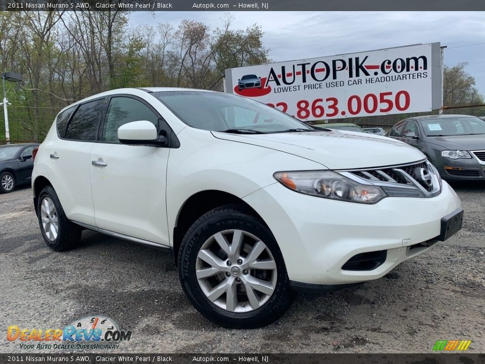 2011 Nissan Murano S AWD Glacier White Pearl / Black Photo #1