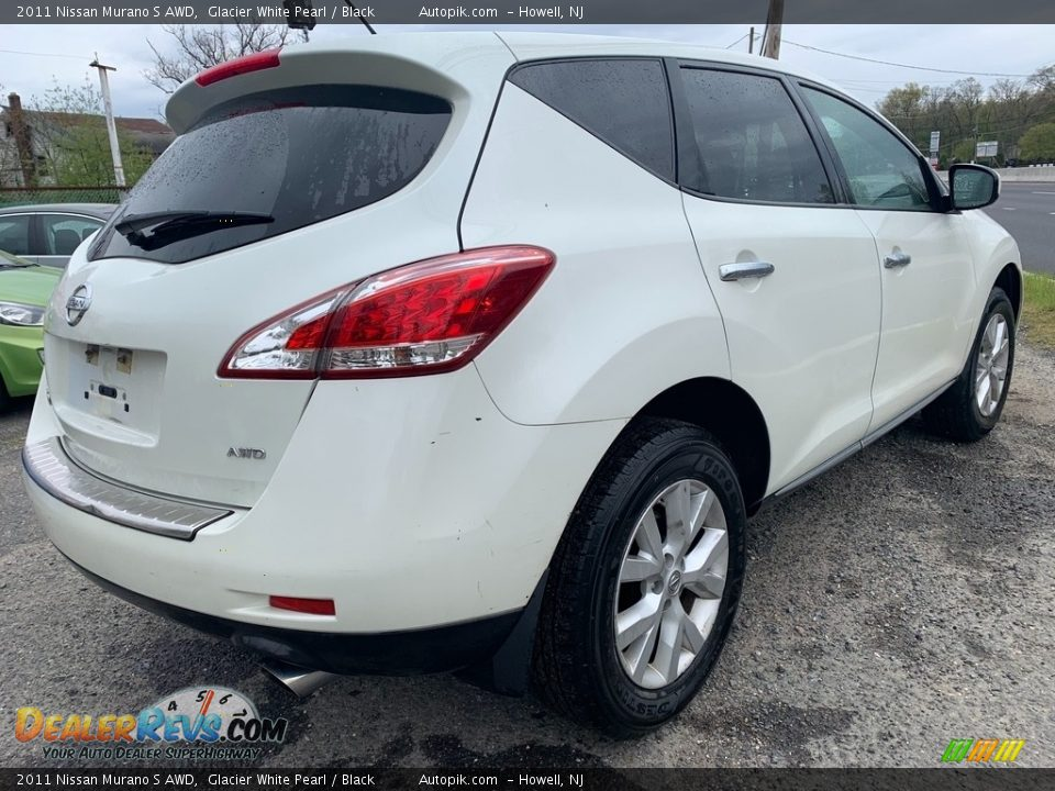 2011 Nissan Murano S AWD Glacier White Pearl / Black Photo #3
