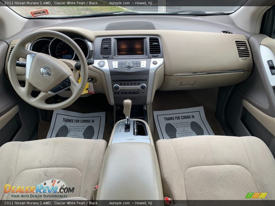 2011 Nissan Murano S AWD Glacier White Pearl / Black Photo #13