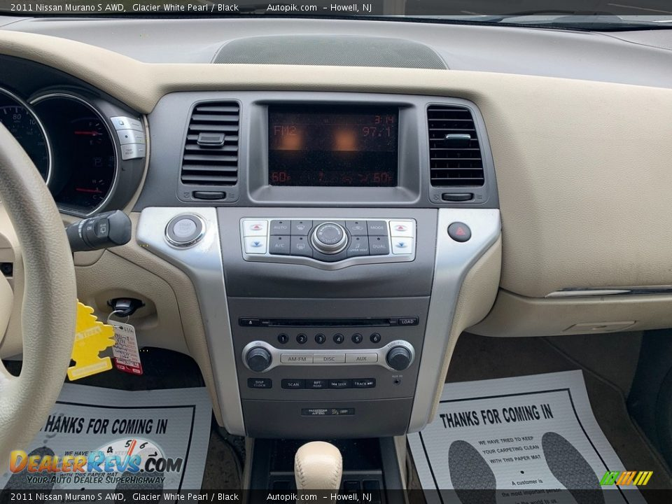 2011 Nissan Murano S AWD Glacier White Pearl / Black Photo #16