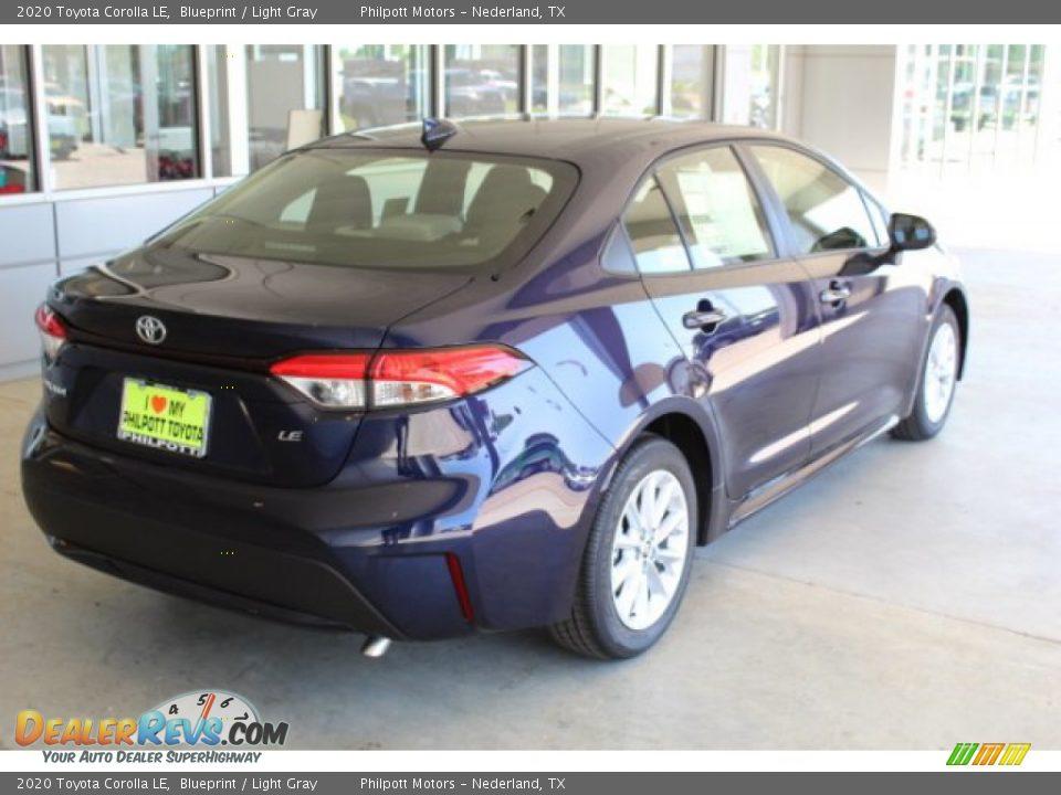2020 Toyota Corolla LE Blueprint / Light Gray Photo #8