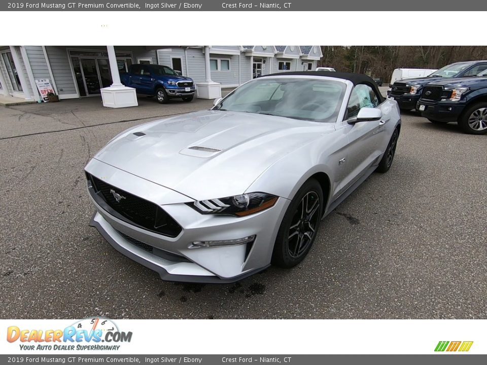 2019 Ford Mustang GT Premium Convertible Ingot Silver / Ebony Photo #3
