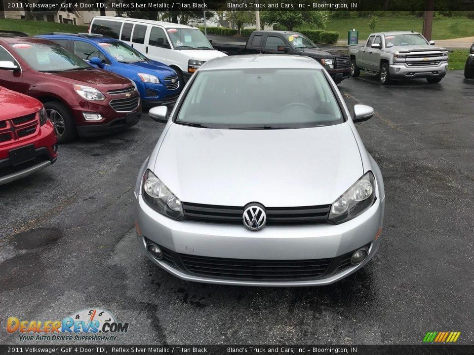 2011 Volkswagen Golf 4 Door TDI Reflex Silver Metallic / Titan Black Photo #3