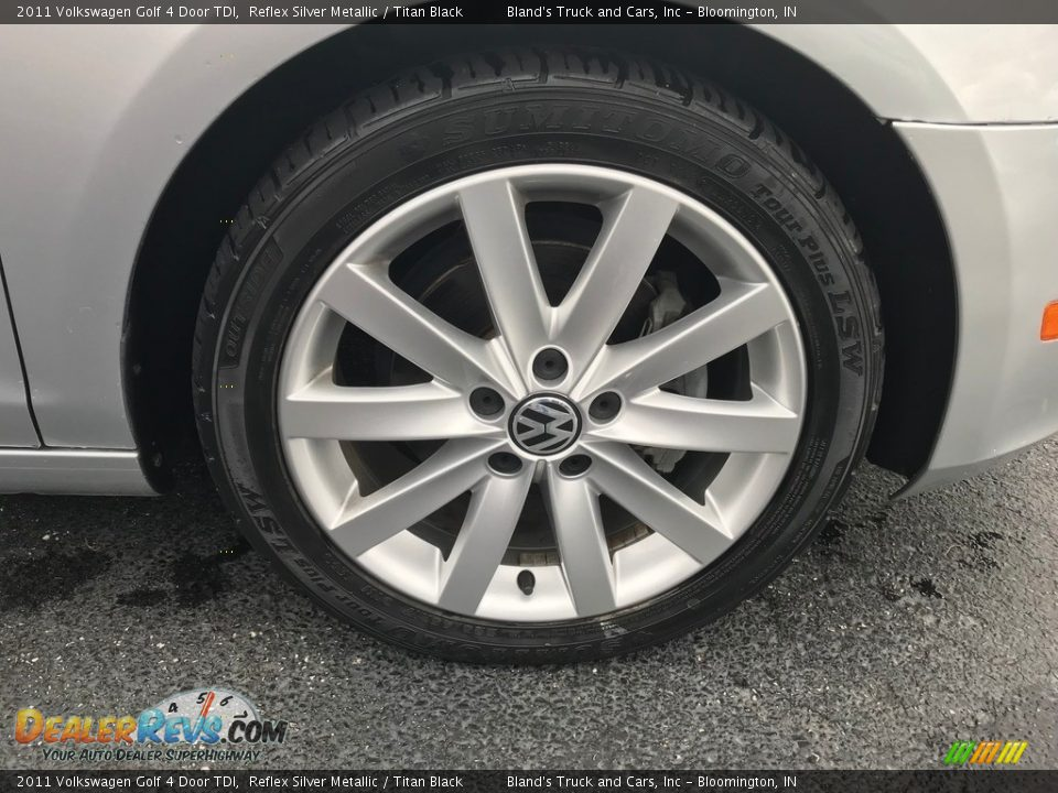2011 Volkswagen Golf 4 Door TDI Reflex Silver Metallic / Titan Black Photo #26