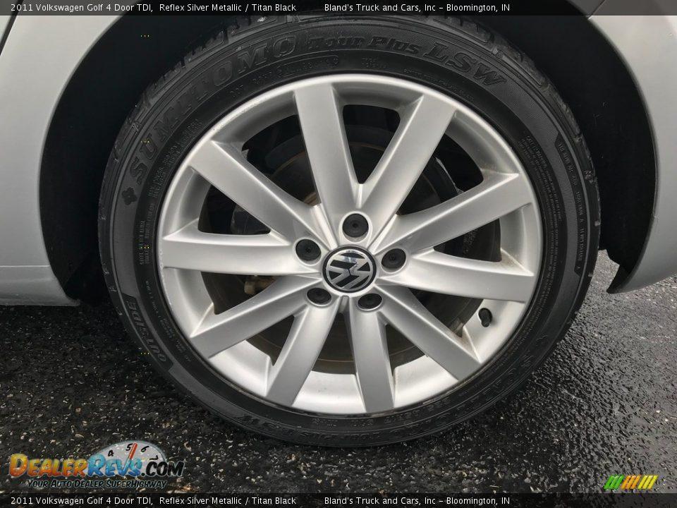 2011 Volkswagen Golf 4 Door TDI Reflex Silver Metallic / Titan Black Photo #28