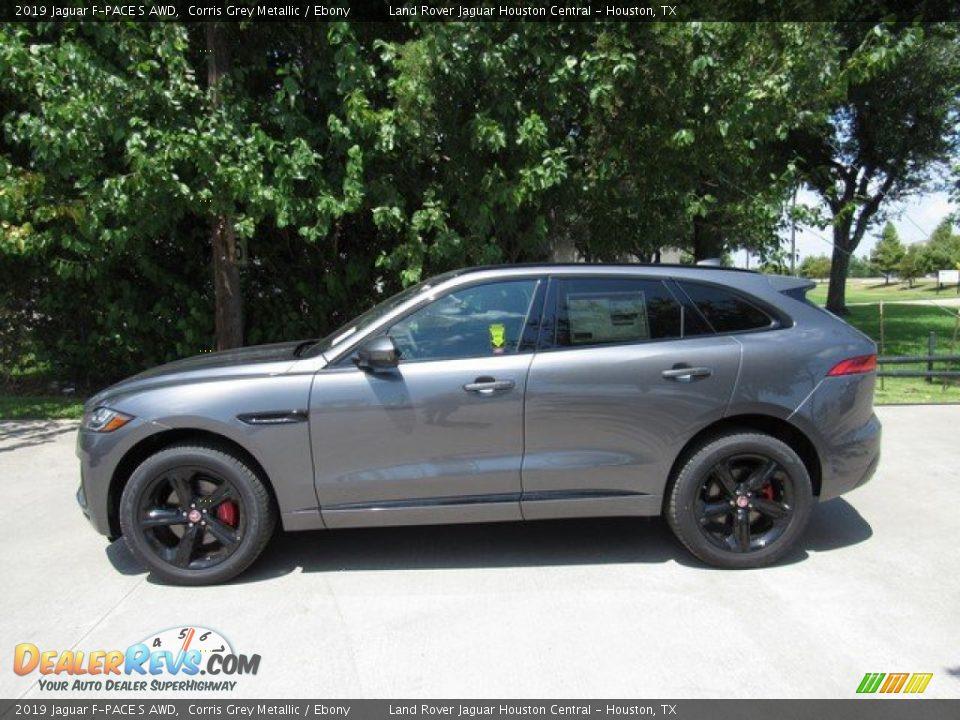 2019 Jaguar F-PACE S AWD Corris Grey Metallic / Ebony Photo #11