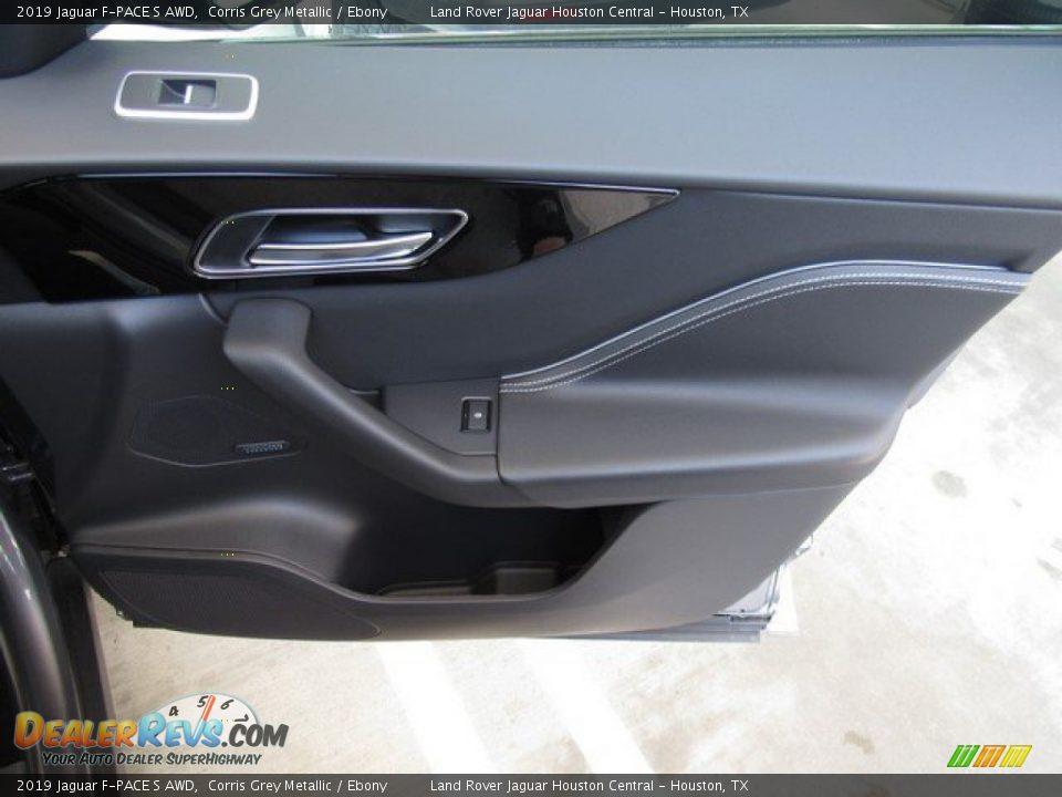 2019 Jaguar F-PACE S AWD Corris Grey Metallic / Ebony Photo #21