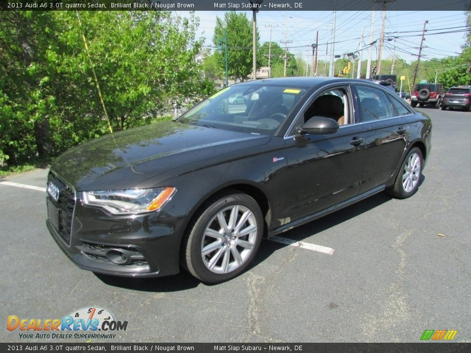 2013 Audi A6 3.0T quattro Sedan Brilliant Black / Nougat Brown Photo #2