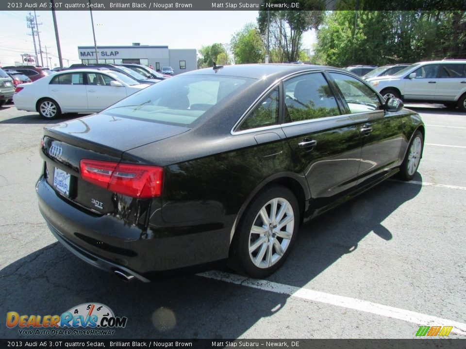 2013 Audi A6 3.0T quattro Sedan Brilliant Black / Nougat Brown Photo #6