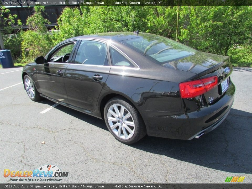 2013 Audi A6 3.0T quattro Sedan Brilliant Black / Nougat Brown Photo #8
