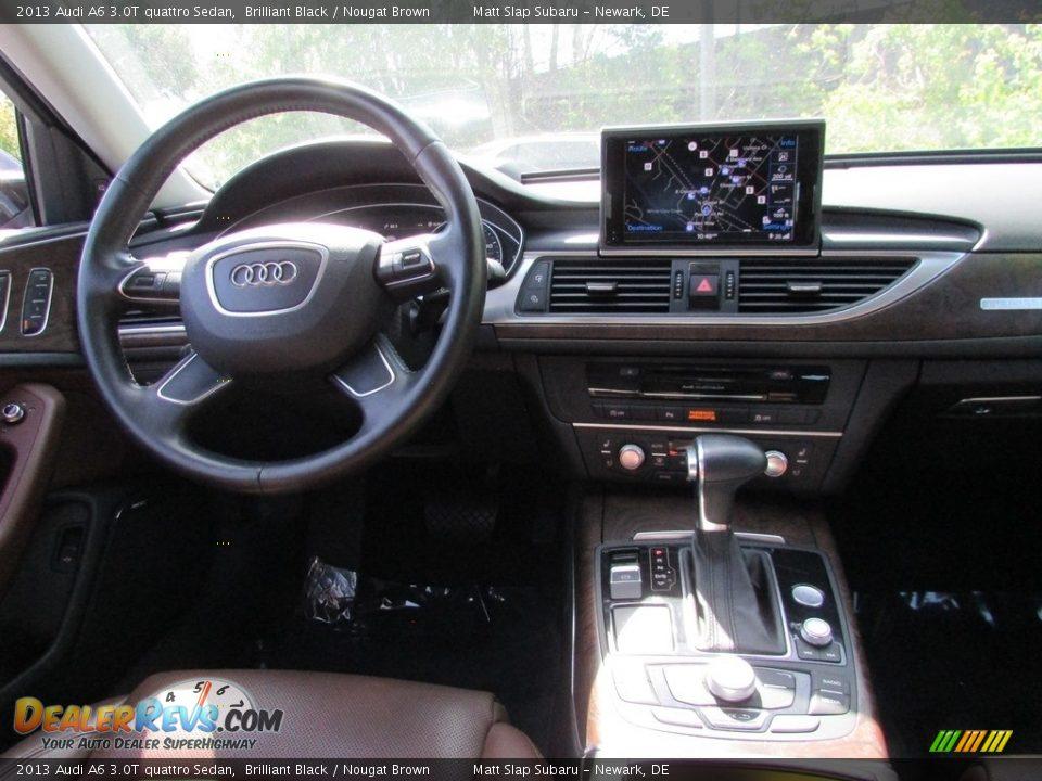2013 Audi A6 3.0T quattro Sedan Brilliant Black / Nougat Brown Photo #10